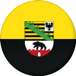 Saxony-Anhalt State Flag 25mm Pin Button Badge